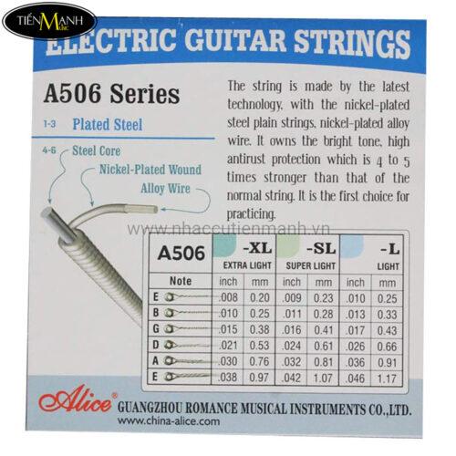 Bộ Dây Đàn Guitar Điện Electric Alice A506