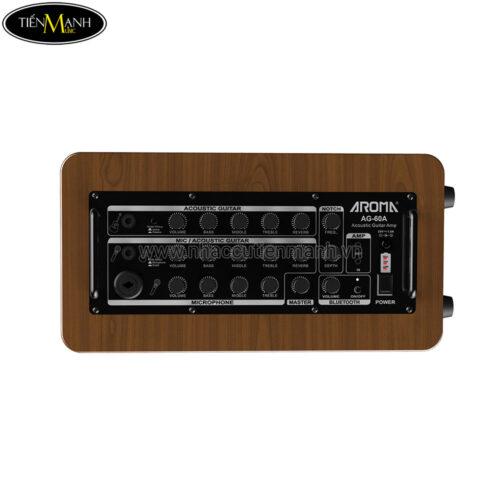 Amply Đàn Coustic Guitar Aroma AG 60A Kết Nối Bluetooth - Pin Sạc Lithium ( công suất 60w)
