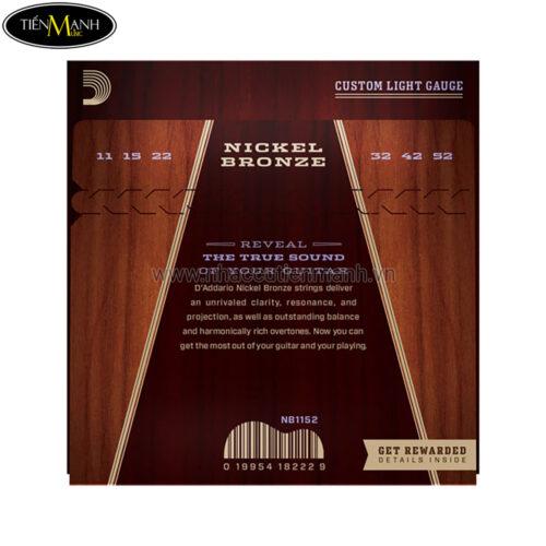 Bộ Dây Đàn Guitar Acoustic DAddario Nickel Bronze NB1152