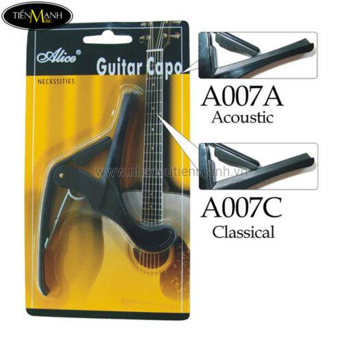 Capo Acoustic Guitar và Classic Guitar Alice A007A - A007C