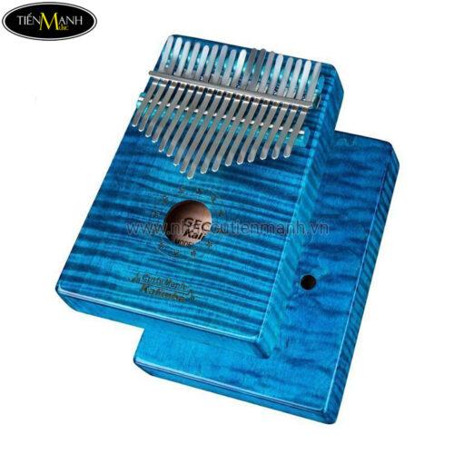 Đàn Kalimba Gecko 17 Phím MC-BL (Xanh lam - Gỗ Phong vân hổ - Mbira Thumb Finger Piano 17 Keys)