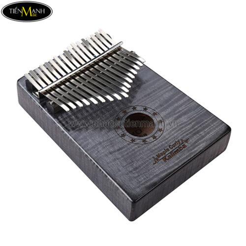 Đàn Kalimba Gecko 17 Phím MC-B (Nâu đen - Gỗ Phong vân hổ - Mbira Thumb Finger Piano 17 Keys)