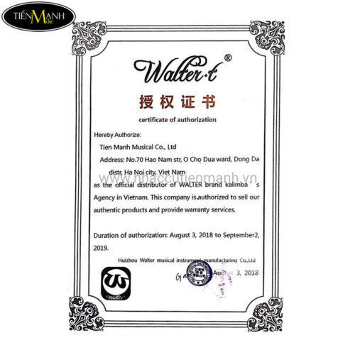 Đàn Kalimba Walter 17 Phím WK-17BL Xanh - Gỗ Mahogany