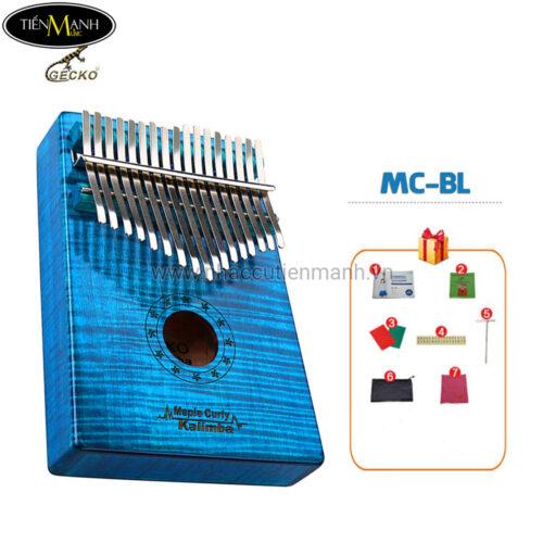 Đàn Kalimba Gecko 17 Phím MC-BL (Xanh lam – Gỗ Phong vân hổ – Mbira Thumb Finger Piano 17 Keys)