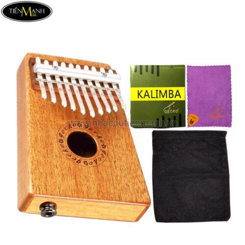 Đàn Kalimba Gecko 10 Phím K10MEQ (Có EQ – Gỗ Mahogany – Mbira Thumb Finger Piano 10 Keys)