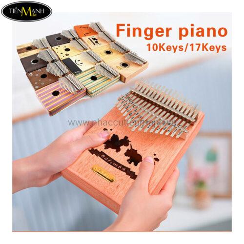 Đàn Kalimba Yael 17 Phím Gỗ Trúc Y17B-F (Trúc hoa - Mbira Thumb Finger Piano 17 Keys)