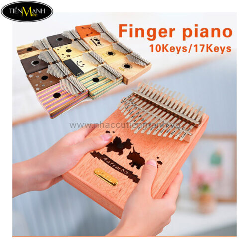 Đàn Kalimba Yael 17 Phím Gỗ Trúc Y17B-G (Xanh - Mbira Thumb Finger Piano 17 Keys)