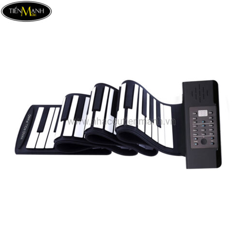 Đàn Piano 61 phím cuộn mềm dẻo Konix Flexible PA61 - Pin sạc 1000mAh