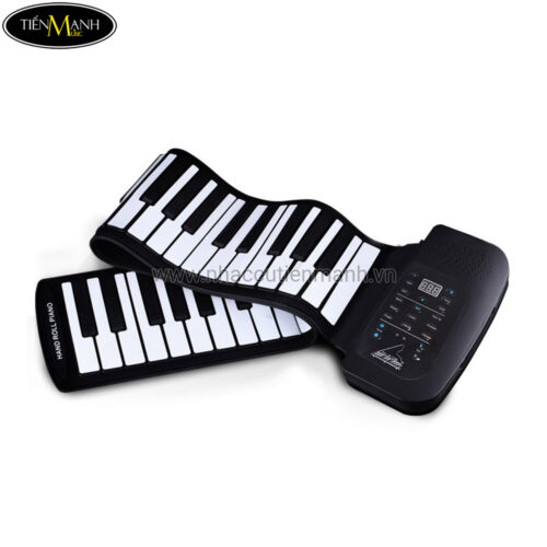 Đàn Piano 61 phím cuộn mềm dẻo Konix Flexible PS61 - Pin sạc 1000mAh