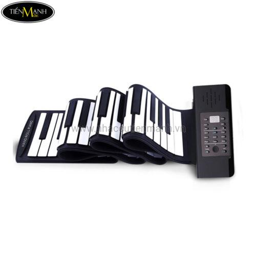 Đàn Piano 61 phím cuộn mềm dẻo Konix Flexible PD61 - Pin sạc 1000mAh