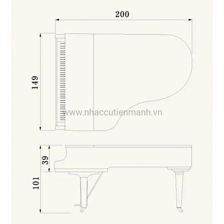 Đàn Piano Grand Yamaha C5X PE