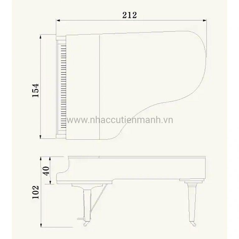 Đàn Piano Grand Yamaha C6X PE