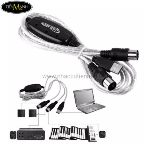 Dây cáp Midi to USB Cable cho Organ, Keyboard BC-08C (kết nối truyền tín hiệu, âm thanh MIDI sang USB)