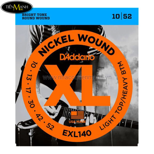 Dây Đàn Electric Guitar DAddario EXL140 (Nickel Wound - Light Top/Heavy BTM )