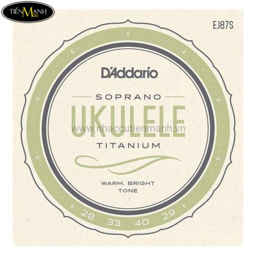 Dây Đàn Ukulele DAddario Titanium Soprano EJ87S