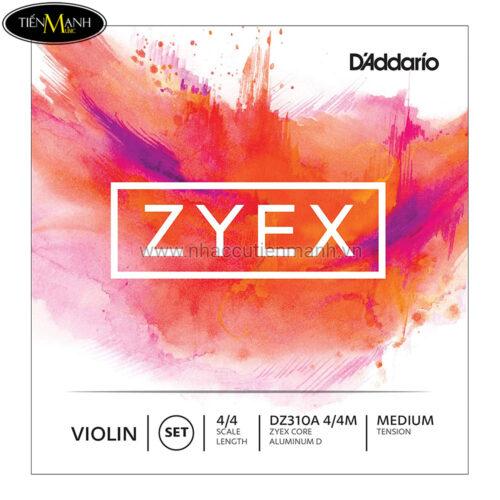 Dây Đàn Violin DAddario Medium Tension Zyex Aluminum D - DZ310A 4/4M