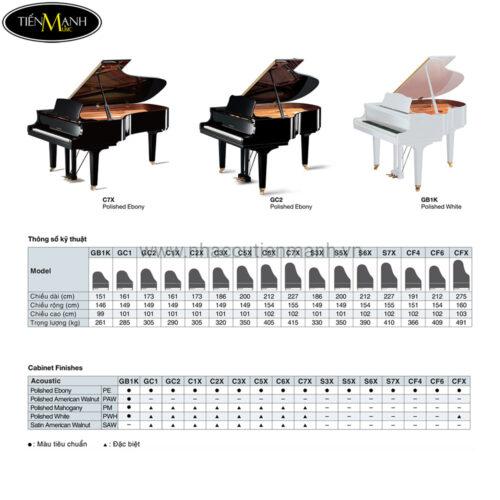 thông tin đàn piano Grand Piano Yamaha