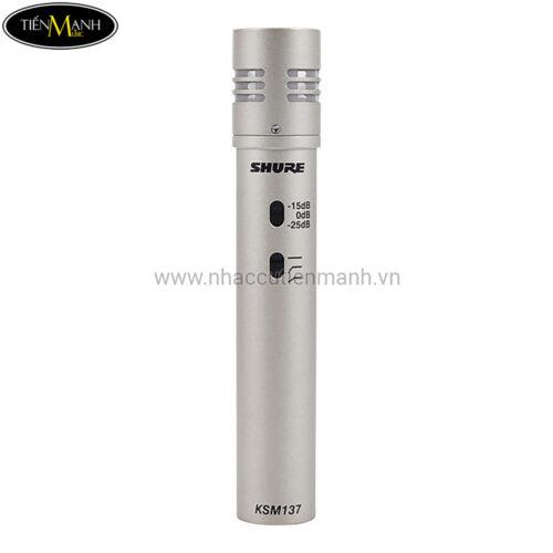 Micro condenser cho nhạc cụ Shure KSM137