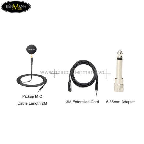 Microphone Pickup cho Nhạc Cụ KIMAFUN CX270B (Đàn Guitar, Ukulele, Violin, Bầu, Nhị...)