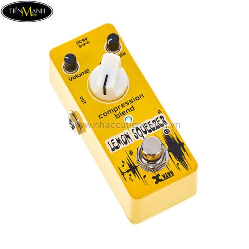 Phơ Guitar Xvive Analog Lemon Squeezer Compressor V9 (Nguồn chính hãng đi kèm - Bàn đạp Fuzz Pedals Effects)