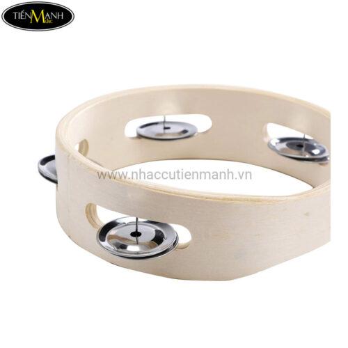 Trống Lắc Tay Gỗ - Tambourine (không mặt 15cm) T6-4