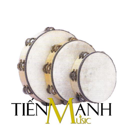 Trống lục lạc Tambourine 8 inch (Viền chuông kép)