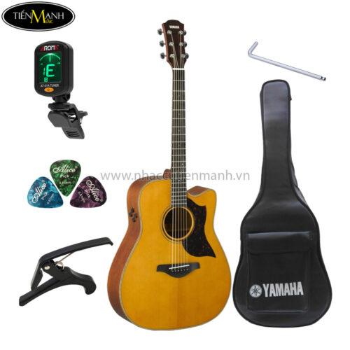 đàn guitar acoustic yamaha a3m khuyến mãi