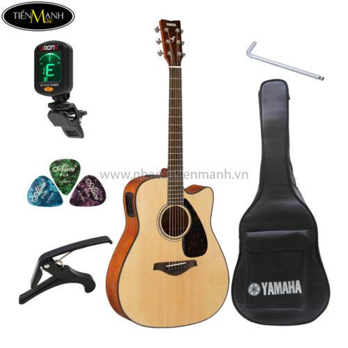 đàn guitar acoustic yamaha fgx800c khuyến mãi