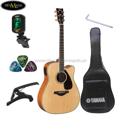 đàn acoustic yamaha fgx820c khuyến mãi