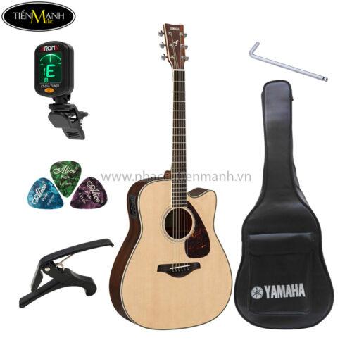 đàn guitar acoustic yamaha fgx830c khuyến mãi