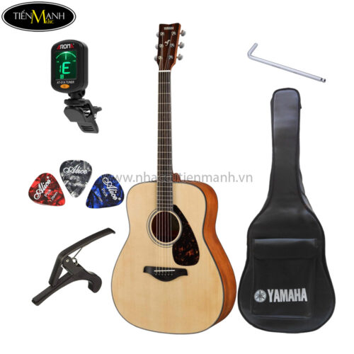đàn guitar acoustic yamaha fs800 khuyến mãi