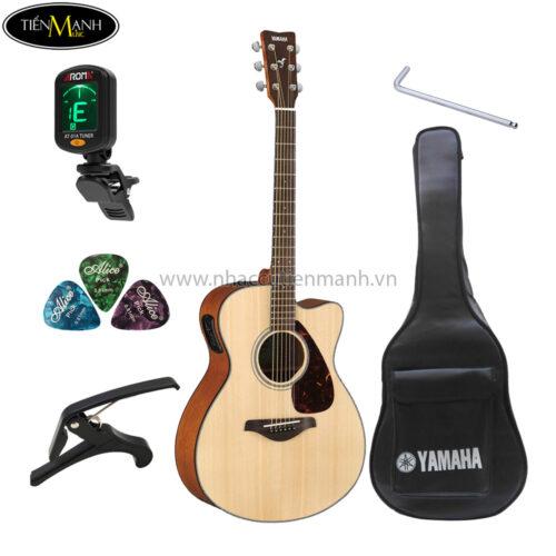 đàn guitar acoustic yamaha fsx800c khuyến mãi