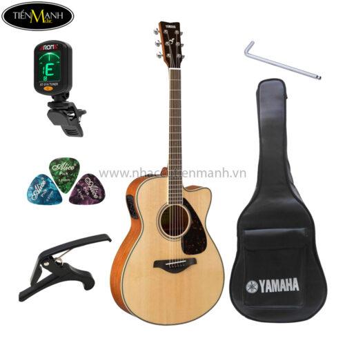 đàn guitar acoustic yamaha fsx820c khuyến mãi