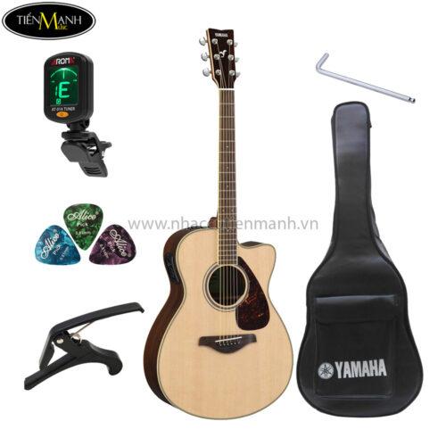 đàn guitar acoustic yamaha fsx830c khuyến mãi