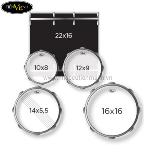 Trống Pearl Roadshow RS525SC standard (Cymbal, Ghế, Chân)