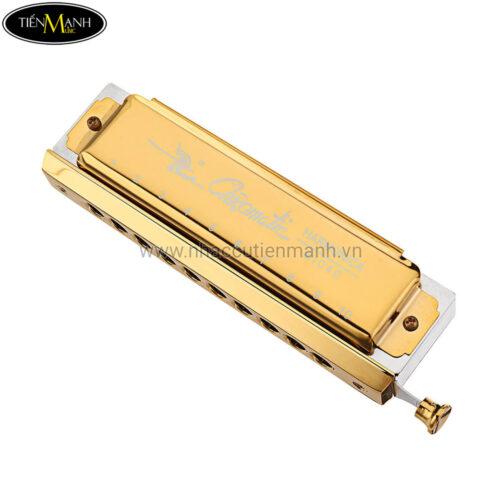 Kèn Harmonica Chromatic Swan SW1040 Gold (10 Lỗ)