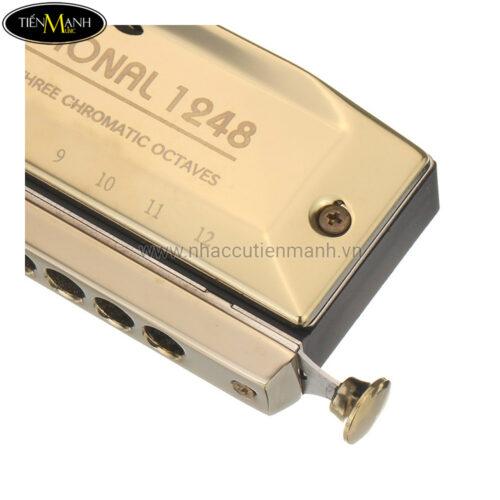 Kèn Harmonica Chromatic Swan SW1248 Gold (12 Lỗ)