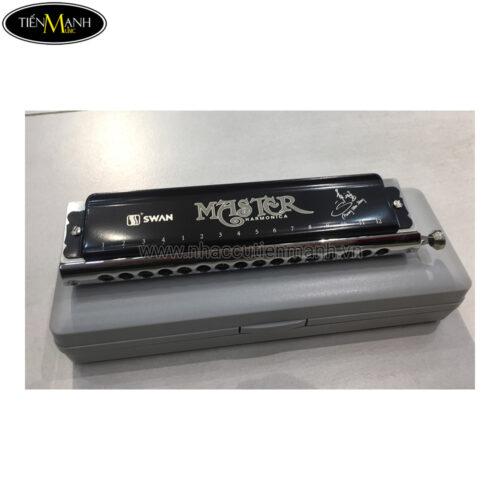 Kèn Harmonica Master Swan SW1664 Silver (12 Lỗ)