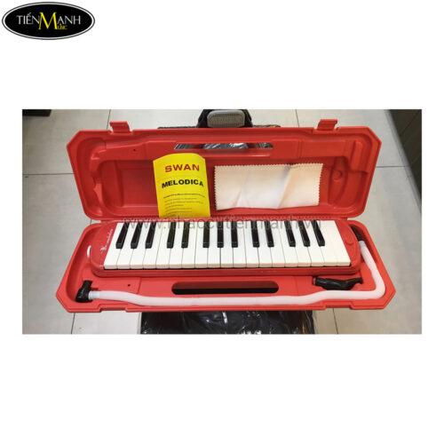 Kèn Melodion Swan 32P Màu Đỏ (hộp nhựa)