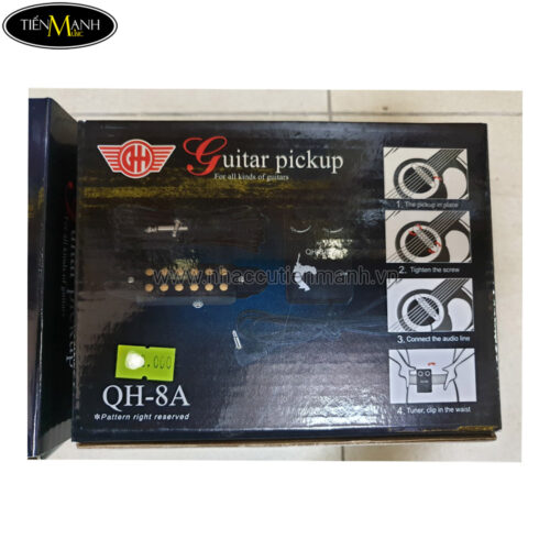 Pickup Đàn Acoustic Guitar QH-8A (Bộ thu âm Guitar)