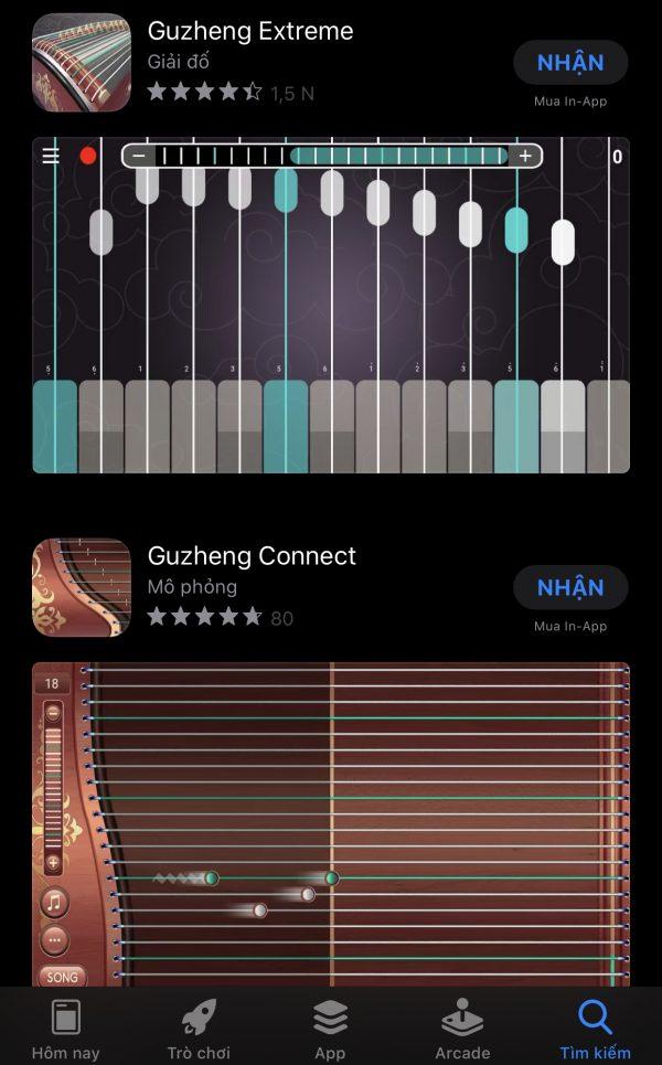 Các ứng dụng đàn tranh hay cho Android và iOS