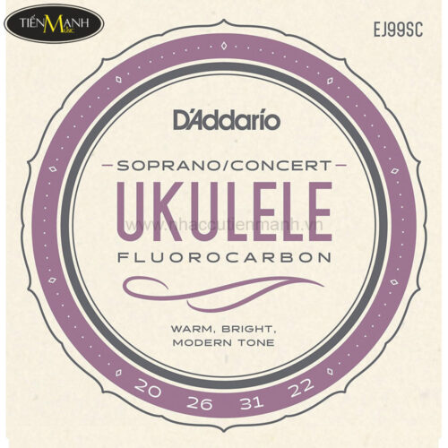 Dây Đàn Ukulele D'Addario Soprano & Concert EJ99SC