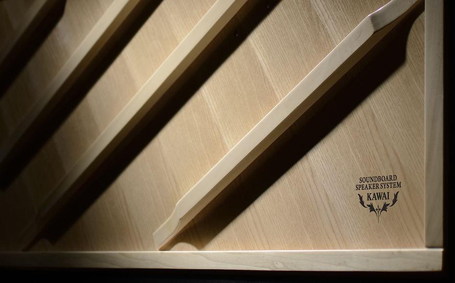 bảng soundboard của đàn piano cơ kawai