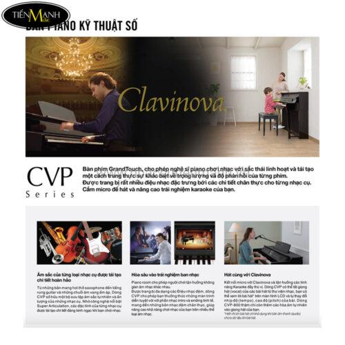 Thông số series piano yamaha cvp