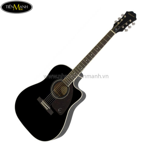 Epiphone AJ-220SCE Acoustic/Electric Guitar, RW Neck, Ebony