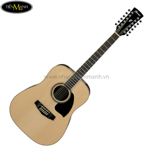 Ibanez PF1512-NT 12-String Acoustic Guitar, RW Neck, Natural