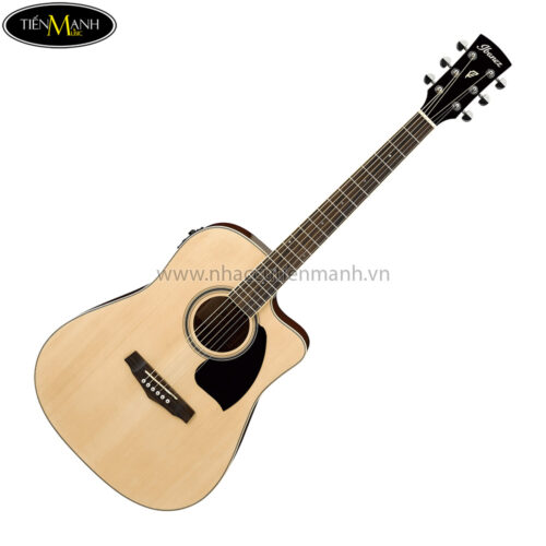 Ibanez PF15ECE-NT Acoustic Guitar, Natural High Gloss