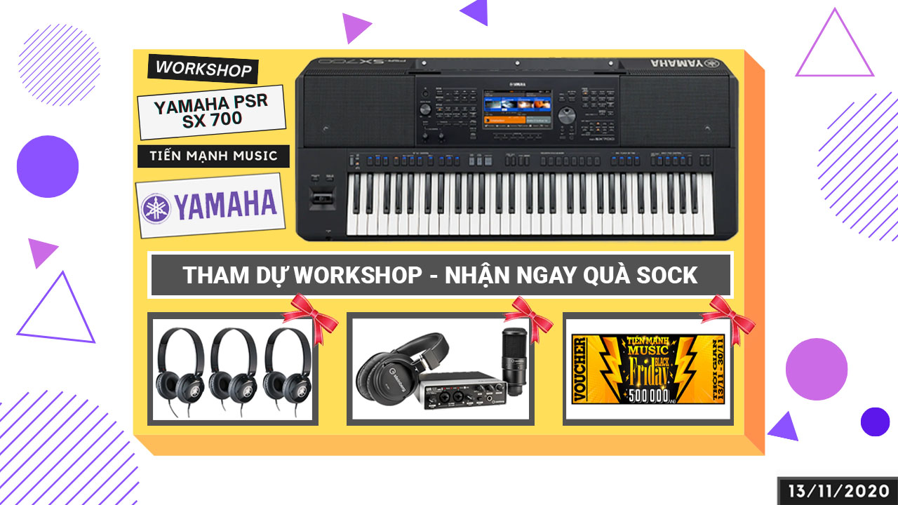 Workshop Yamaha PSR SX Series Giới thiệu Đàn Organ Mới 2020
