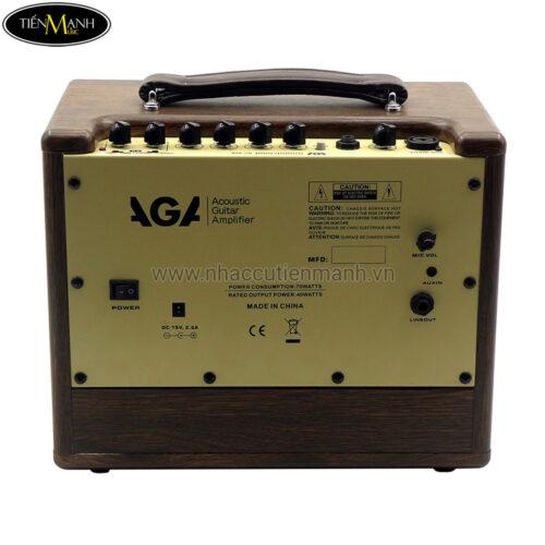 Ampli Guitar Acoustic AGA SC-X3P Bluetooth, Pin Sạc (40W)